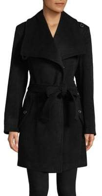 "London Fog THE COAT EDIT 34"" Belted Envelope Collar Coat"