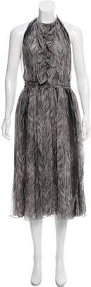 Dolce & Gabbana Silk Halter Dress w/ Tags