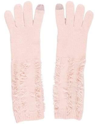 Rebecca Minkoff Knit Fringe Gloves w/ Tags