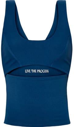 Live The Process Cutout Stretch-supplex Top