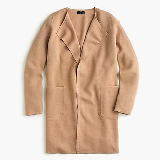 J.Crew Juliette collarless sweater-blazer