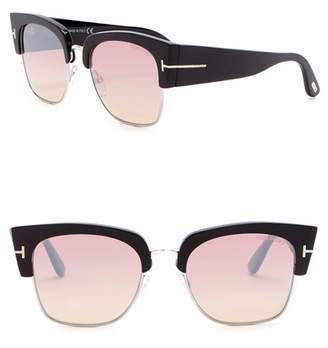 Tom Ford Dakota 55mm Clubmaster Sunglasses