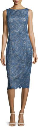 Michael Kors Bateau-Neck Lace Sheath Dress