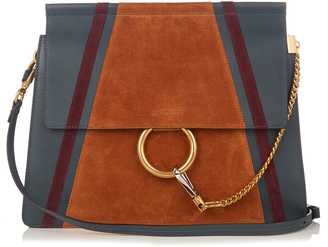 CHLOÉ Faye medium suede and leather shoulder bag $2,090 thestylecure.com