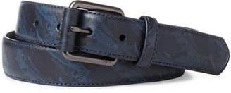 Ralph Lauren Men's Camo-Print Leather Belt