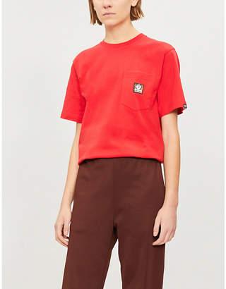 Aape Ape-logo cotton-jersey pocket T-shirt