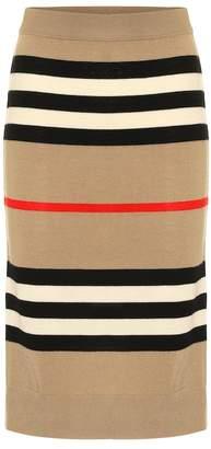 Burberry Icon Stripe merino wool skirt