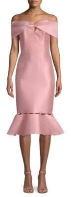Sachin + Babi Hazel Off-Shoulder Sheath Dress