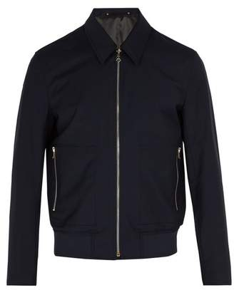 Paul Smith Wool Bomber Jacket - Mens - Navy