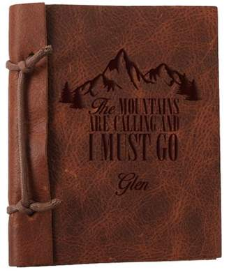 """MonogramOnline The Mountains Are Calling Custom Leather Journal, Large: 8.8"""" x 5.85"""""""