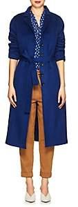 Robert Rodriguez Women's Wool-Cashmere Melton Coat - Blue