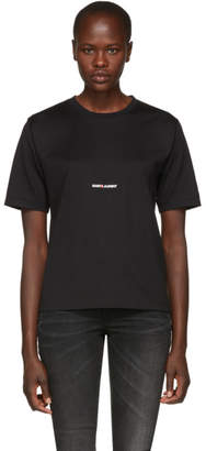 Saint Laurent Black Classic Logo T-Shirt