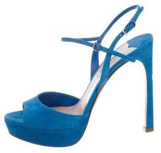 39750e3bc4db Miu Miu Platform Heel Women s Sandals - ShopStyle