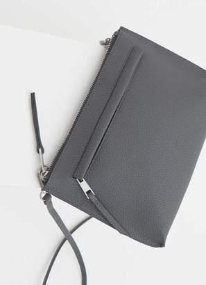 Mint Velvet Paige Steel Zip Cross Body Bag