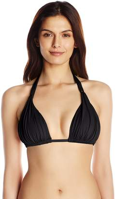 LaBlanca La Blanca Women's Island Goddess Halter Bra Bikini Top with Sewn In Cups