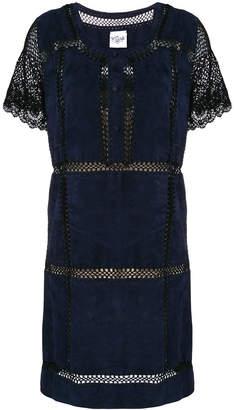 Michel Klein net panelled mini dress