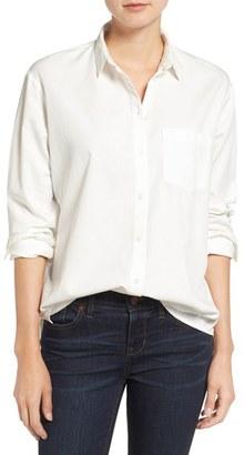 Women's Madewell Drapey Oversize Boyshirt $72 thestylecure.com