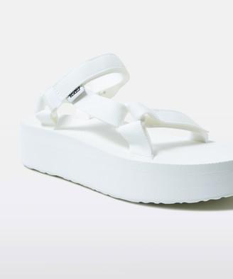 Teva Womens Flatform Universal Sandal Bright White