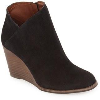 Women's Lucky Brand 'Yakeena' Zip Wedge Bootie $98.95 thestylecure.com
