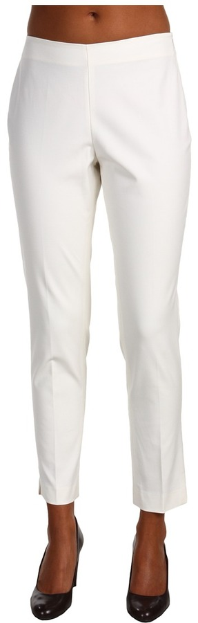 Adrienne Vittadini - Woven Slim Side Zip Pant (Vanilla Ice) - Apparel