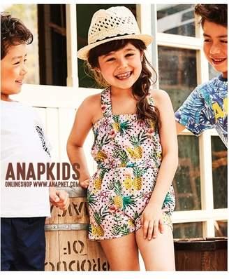 ANAP (アナップ) - ANAP KIDS トロピカルパイン柄ロンパース ブラック
