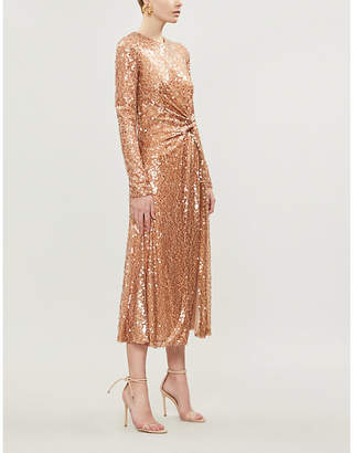 Galvan Gaillette sequinned midi dress