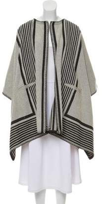 MiH Jeans Striped Wool Poncho