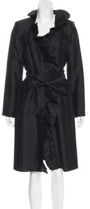 Milly Wool Ruffle Coat