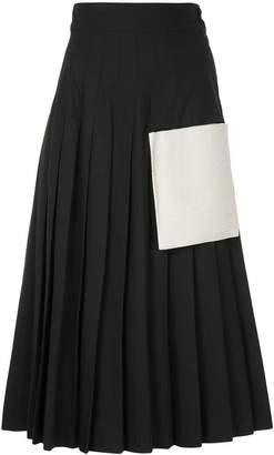 Maryam Nassir Zadeh high-waisted pleated skirt