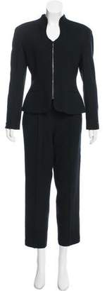 Christian Dior Embellished Wool Pant Suit