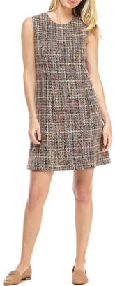 Gal Meets Glam Grammercy Plaid Sleeveless A-Line Shift Dress