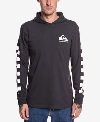 Quiksilver Men's Originals Check Logo Graphic Hooded T-Shirt