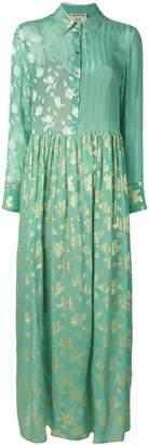 Semi-Couture Semicouture mixed-print maxi dress