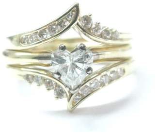 14k Yellow Gold Heart Shape 0.75Ct Diamond Engagement Ring