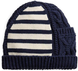 at Farfetch Burberry cable knit beanie
