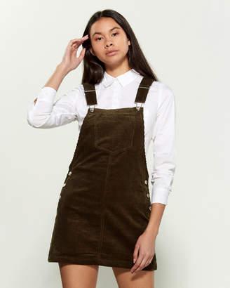 Love Tree Corduroy Overall Mini Dress