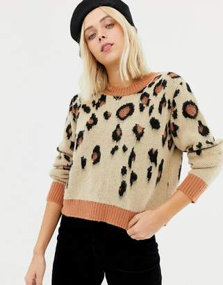 Miss Selfridge sweater in leopard