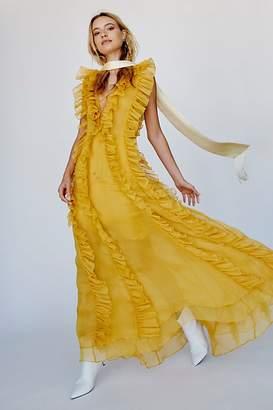 Shona Joy Ambra Layered Ruffle Maxi Dress