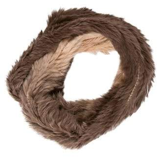 Yves Salomon Fur Knitted Scarf