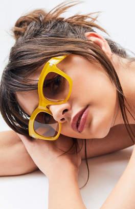 La Hearts Plastic Sunglasses