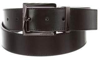 Versace Gunmetal Leather Belt w/ Tags