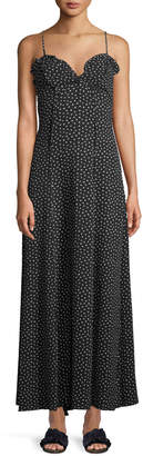 Max Studio Polka-Dot Sweetheart Maxi Dress