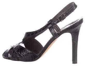 Manolo Blahnik Python Slingback Sandals