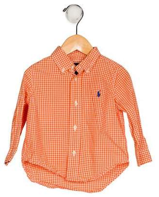 Ralph Lauren Boys' Gingham Button-Up Shirt