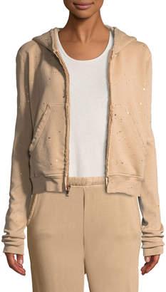 Frank And Eileen Metallic Splatter Zip-Front Hooded Jacket