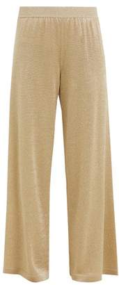Missoni High Rise Metallic Knit Trousers - Womens - Gold