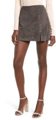 Blank NYC BLANKNYC Suede Miniskirt