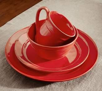 Pottery Barn Cambria 16-Piece Dinnerware Set - Red