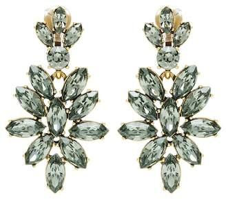 Oscar de la Renta Crystal-embellished clip-on earrings