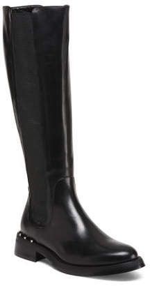 Made In Italy Tall Leather Chelsea Boots